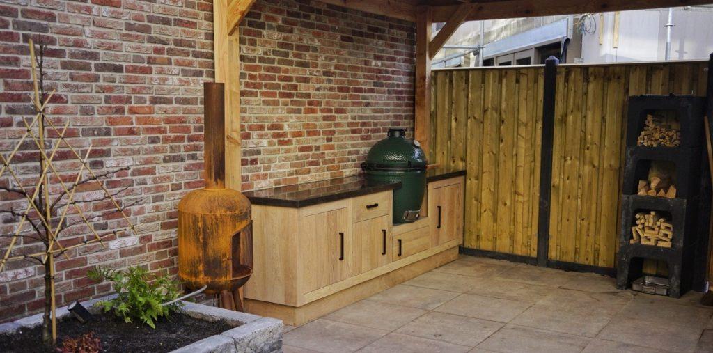 Buitenkeuken op maat, Big Green Egg, keramische barbecue